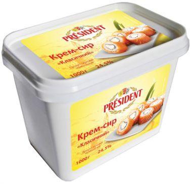 Сыр сливочный Президент 1 кг