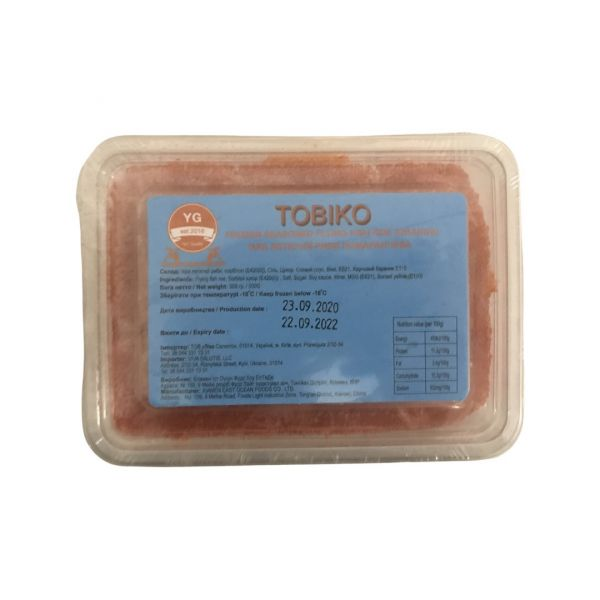 Ікра летючої риби Тобікко помаранчева 500 г